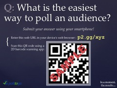example presentation poll slide